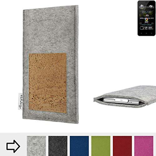 flat.design Handy Hülle Evora für Allview P4 Pro Made in Germany Handytasche Kartenfach Kork Filz Tasche Case