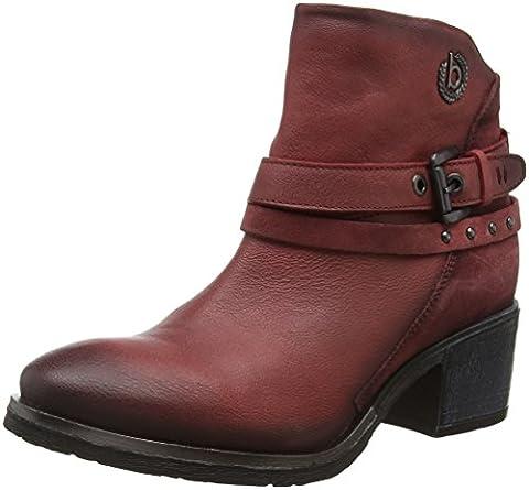Bugatti Damen V75311G Biker Boots, Rot (Rot 300), 37 EU