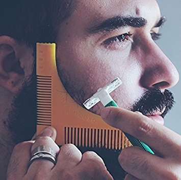 ? Beard Shaping & Styling Template Comb Tool ? Comes with Cleaning Brush for Perfect Lines and Symmetry, Premium Quality, Ideal Gift for Hipsters by GROOMARANG
