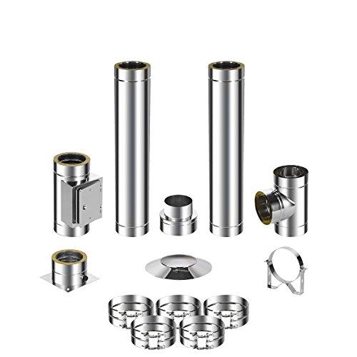 ADT Diamantwerkzeuge GmbH Kit de montage pour cheminée en acier inoxydable DW 150 3,2m 0,5