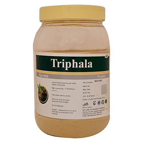 Jain Triphalapulver 500 Gramm - Indisches Ayurveda Reines Natürliches Kräuterergänzungspulver