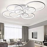 LED Lámpara de techo moderna,ONLT LED Iluminación de techo Baño Cocina Dormitorio Balcón Corredor Oficina Comedor Sala de Estar,Iluminación colgante (Luz Fría, 8 cabezas)