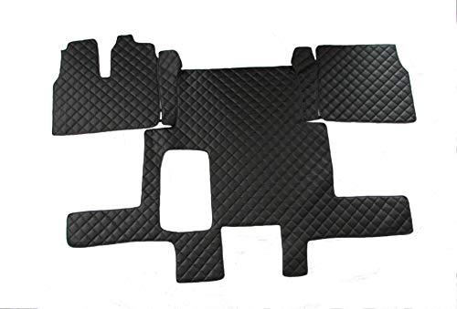 Texmar LKW Fußmatten Links für Man TGX 2006-2018 Euro 5 Euro 6 AUTOMAT schwarz Eco Leder