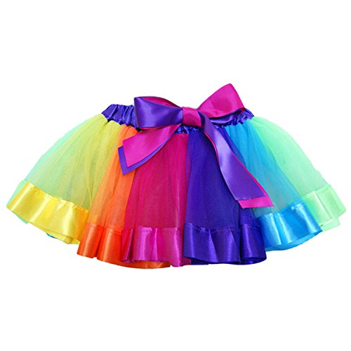 nbow Tutu Ballet Dance Skirts Costume Dress for Birthday Party School Play Christmas Pageant Size S (Dance School Girl Kostüme)