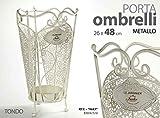 Gicos Porta ombrelli in Metallo Tondo 24 * 49 cm Le jiardinier Shabby Chic RTE-706837