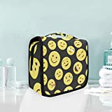 Cosmetic Bag Travel Hanging Toiletry Bag Cute Smile Face Pattern Travel Storage Bag Portable Makeup...