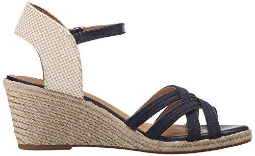 Lucky Brand Kalley3 Femmes Toile Sandales Compensés Morrocan Blue