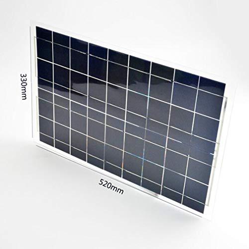 Tipo paneles / componentes solares laminadosTensión de trabajo 18 (V)Corriente de corto circuito 1.75 (A)Potencia máxima 30 (W)Tensión del sistema 12 (V)Dimensiones 520 * 330 * 2.5 (mm)Corriente de trabajo 1.6 (A)Tensión de circuito abierto 18 (V)Se ...
