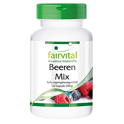 Beeren Pur - Antioxidantien Kapseln - HOCHDOSIERT - VEGAN - 120 Kapseln - 8 Beeren mit Spirulina
