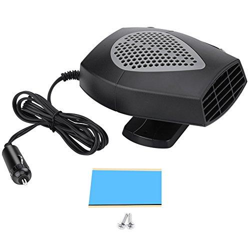 Duokon 12V 150W D/égivreur de Pare-Brise 2 en 1 Chauffage de V/éhicule de Voiture Chauffage Cool Fan Ventilateur de D/égivrage de Pare-Brise
