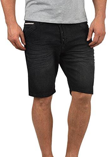 Indicode Alessio Herren Jeans Shorts Kurze Denim Hose Aus Stretch-Material Regular Fit, Größe:XXL, Farbe:Black (999) -