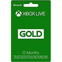 Xbox Live Gold 12 Month Membership Card (Xbox One/360) [Importación Inglesa]