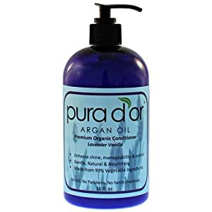 Pura d'or: Premium Organic Conditioner (16 fl. oz.) by Pura d'or BEAUTY (English Manual)