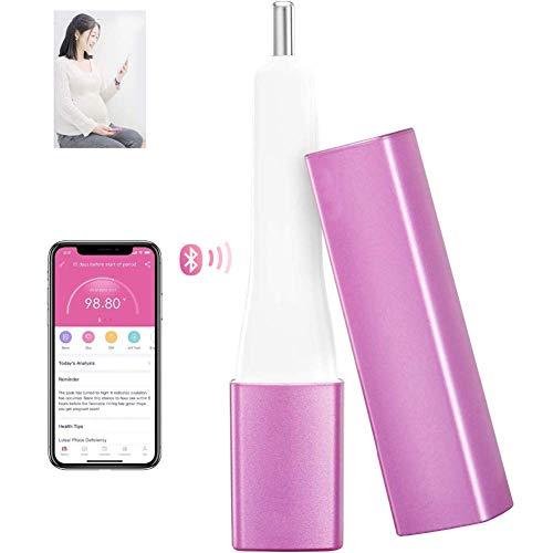 Gute Qualität Basal Körperthermometer, Oral Basal BBT Thermometer Weibliche Ovulation Monitor Fertility Tracker Natürliche Familienplanung, Lila -