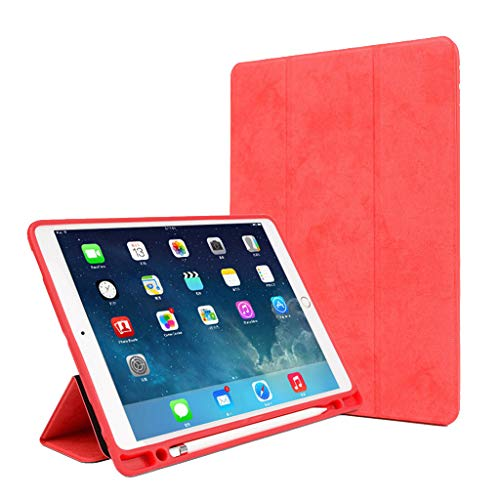 Balock Schuhe Tablet Protective Case,Silicone TPU Protective Case for iPad 9.7inch 2018(6th Gen),Model: A1893 or A1954 (Rot)