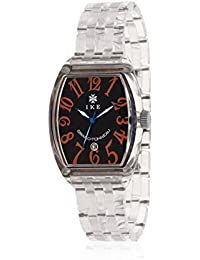 Ike GTO911 - Reloj con correa de piel para hombre, color negro / gris