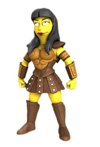 NECA Simpsons 25th Anniversary - Lucy Lawless 12,5 cm Action Figure Series 2 1