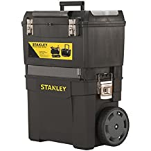 Stanley Rollende Werkstatt / Werkzeugwagen (47.3x30.2x62.7cm, zwei seperat verwendbare Werkzeugboxen, robuster Kunststoff, zwei Einheiten, Metallschließen, Organizer) 1-93-968