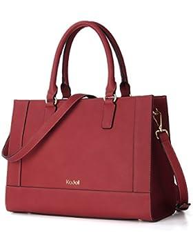Kadell Womens Large Capacity Matte Leder Tote Handtaschen Geldbörse Schulter Satchel Taschen