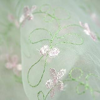 Altotux 100% Organza Pastel Multi Color Embroidered Lace Fabric 52-53 by Altotux