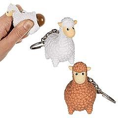 Idea Regalo - OOTB Portachiavi Lama Che Fa la Cacca - Venduto singolarmente - Portachiavi Giocattolo Antistress - Animale, Pecora Che Fa la Cacca