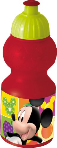 Joy Toy 736050 - Disney Mickey Mouse Sportflasche, 350 ml, 6 x 6 x 17 cm Preisvergleich
