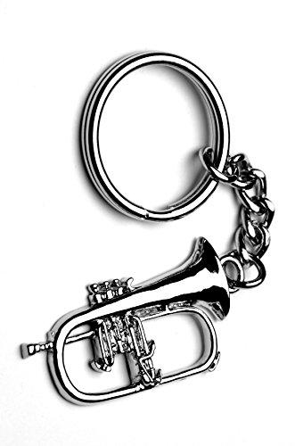 GIFTICUFFS Flügelhorn Metall Musik Schlüsselanhänger