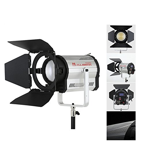 Falconeyes CLL-1600TDX 160W LEDs Spotlight CRI 95+ with LCD&Touch Panel DMX512 System 3000K-8000K Color Stepless Adjustable For Professional filming and Broadcasting Use