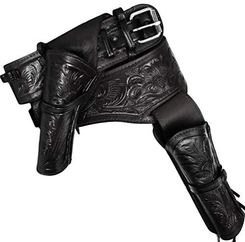 Modestone 44/45 Western Left Cross Draw Double Pistolengürtel Leather 42 -