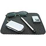 Car-Dec® Dashboard Non Adhesive Anti Slip for Cell Phone, Sunglasses, Keys and More (Black)