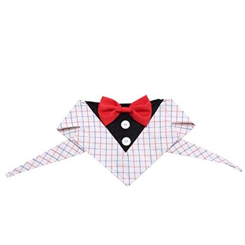 Fliege Hochzeit Party Haustier Kostüm Krawatte Kragen Größe L (Karo) ()