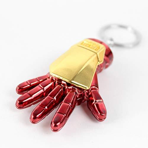 QWEASZER Iron Man Keychain Anzug Handschuh Replik Schlüsselring Marvel Avengers Halloween Cosplay Männer Film Iron-Man Keychain,Iron Man Keychain-OneSize