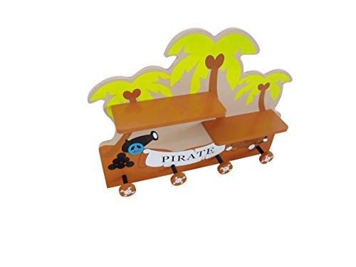 Bebe Style - Mensola e appendiabiti da parete, in legno, per ...