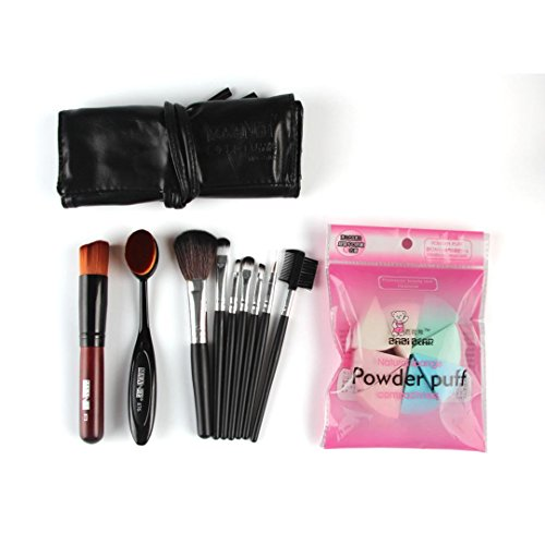 MuSheng(TM) Pinceaux pour le visage + la fondation 10pcs maquillage brosse brosse maquillage éponge maquillage