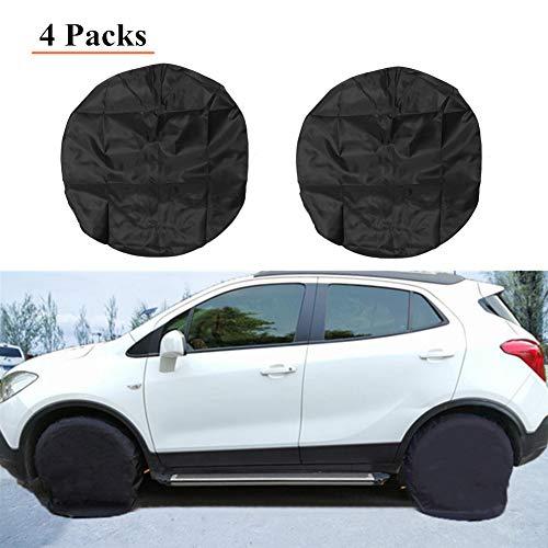 HONCENMAX Set von 4 Autos Reifenabdeckungen - Wasserdicht Staubdicht Reifenschützer - für RV Jeep SUV Auto LKW Wohnmobil Anhänger - Passt 30