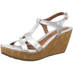 Bata Women's Gabi Silver Fashion Sandals - 5 UK/India (38 EU)(7611338)
