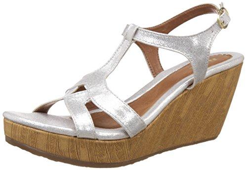 Bata Women's Gabi Silver Fashion Sandals – 4 UK/India (37 EU) (7611338) image - Kerala Online Shopping
