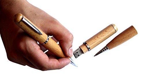 Tomax Stift Kugelschreiber aus Holz als USB Stick mit 32 GB USB Speicherstick Flash Drive