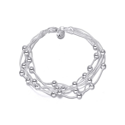 audbrave Love Charm Armband, Fashion versilbert Armreif Armband für Frauen Teen Mädchen Geburtstag (Tragen Kostüm Billig Anzug)