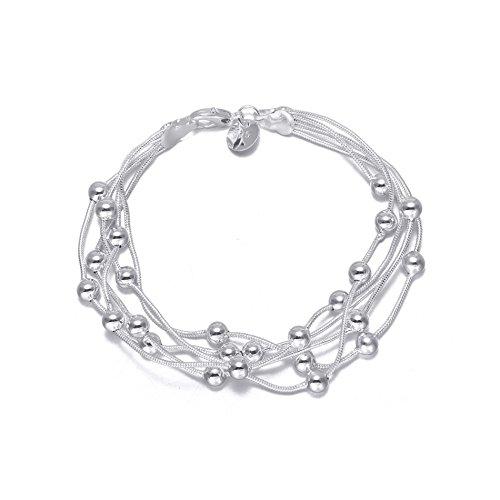 audbrave Love Charm Armband, Fashion versilbert Armreif Armband für Frauen Teen Mädchen Geburtstag (Kinder Großhandel Kostüme)