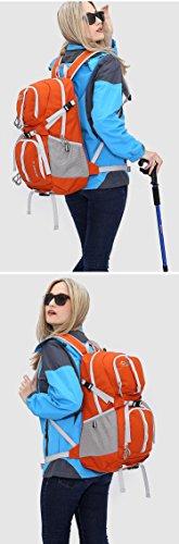 Cuckoo 32L Unisex Große Bergsteigen Tasche Trekking Daypack Wasserdicht Outdoor Wandern Reisen Klettern Camping Radfahren Rucksack mit Regenhülle Orange