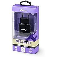 Home - Cargador de pared con 2 puertos USB (4,8 A) (black)