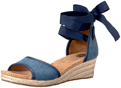 UGG Australia Frauen Platform Sandalen Blau Groesse 8 US /39 EU (8 Uggs Größe Frauen)