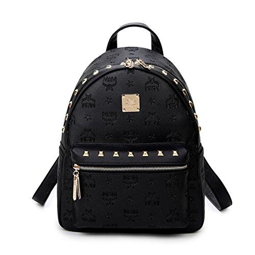 rivet mini sac à dos/ Lady impression Pack/Sac à dos orange/Version coréenne occasionnelle de collège du vent bag-A A