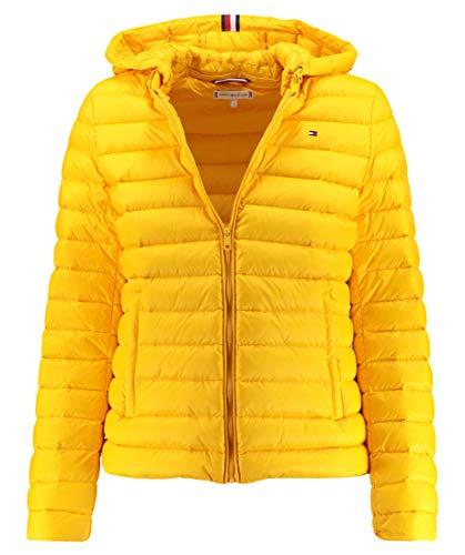 Tommy Hilfiger Damen TH Essential LW DWN Pack JKT Jacke, Gelb (Spectra Yellow 794), Small (Herstellergröße: S) - Weiße Kapuze Lederjacke Mit