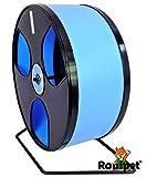 Ø 30 cm Hamsterrad WOBUST Wheel schwarz/hellblau