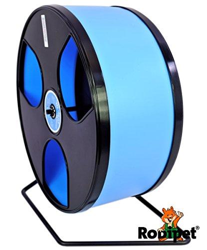 Ø 30 cm Hamsterlaufrad WOBUST Wheel schwarz/hellblau
