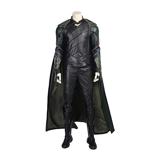 QWEASZER Loki von Thor 3 Cosplay Kostüm Marvel Avengers Superhero Kostüme Weste, Top, Hose, Mantel, Schuhe Halloween Fancy Dress Party Cosplay Kostüm Requisiten,Loki-Custom Size