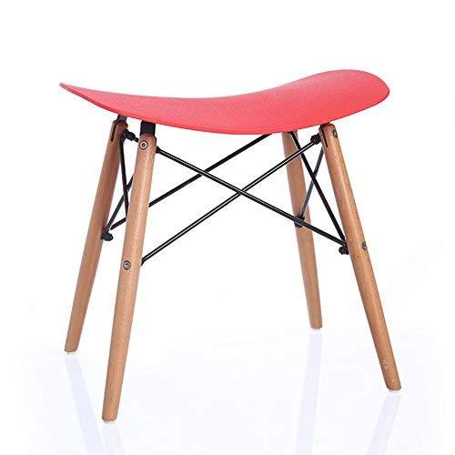 Wood bench atmosferico fashion bar chair/sgabello, practical dining chair, plastica non può ruotare la sedia,rosso