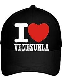 Idakoos I Love Venezuela Bold Font - Paises - Gorra De Béisbol